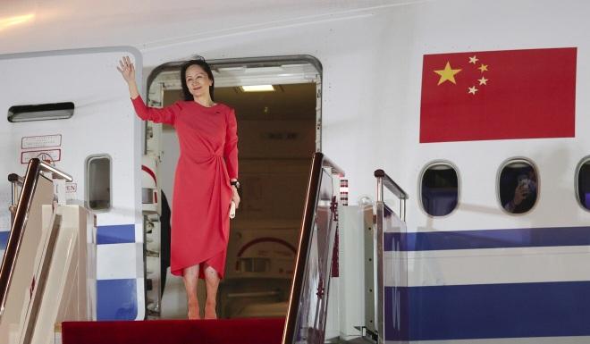 Trung Quốc trải thảm đỏ đón bà Mạnh Vãn Chu hồi hương - 1