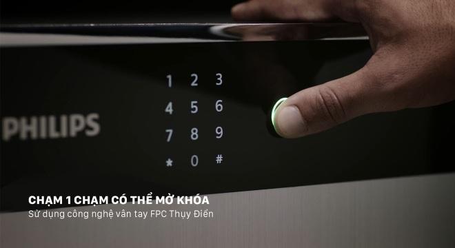 Chuẩn mực két sắt vân tay cao cấp thế hệ mới hiện diện trong Philips SBX701 - 2