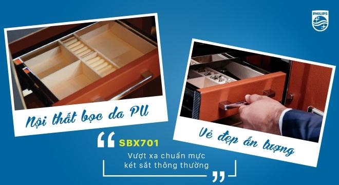 Chuẩn mực két sắt vân tay cao cấp thế hệ mới hiện diện trong Philips SBX701 - 5