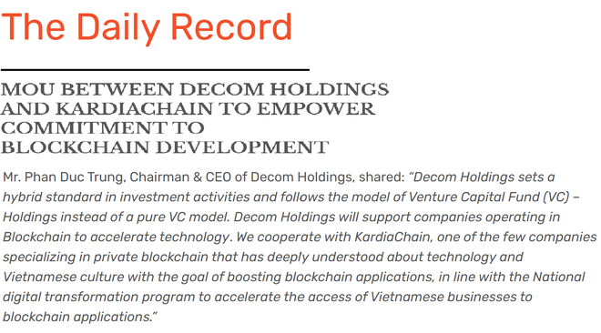 Truyền thông thế giới quan tâm đến Hợp tác thúc đẩy Blockchain tại Việt Nam - 3