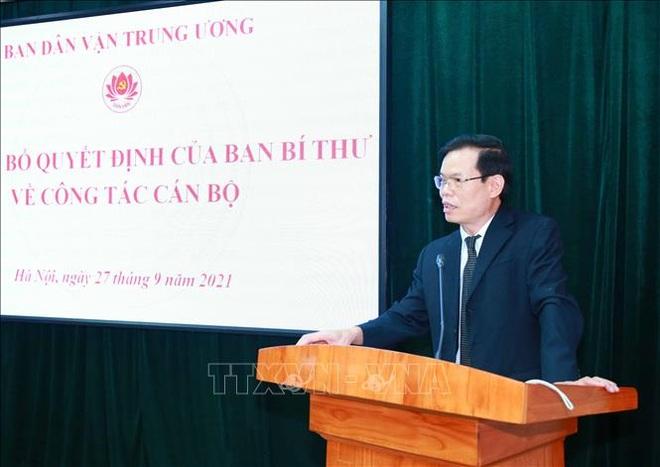 Ông Triệu Tài Vinh được điều động làm Phó Trưởng ban Ban Dân vận Trung ương - 2