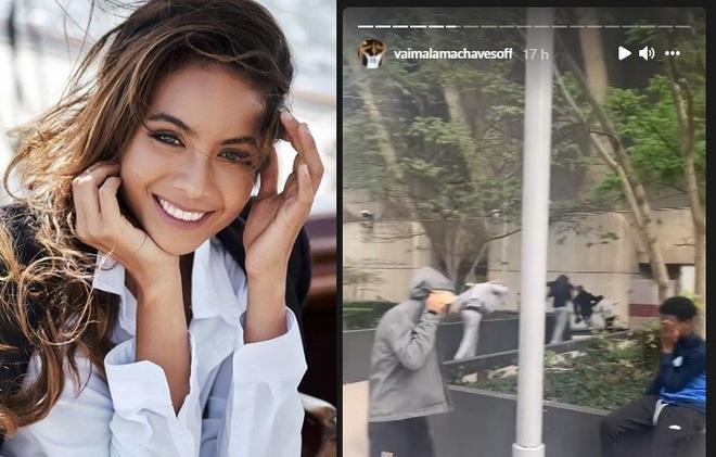 Hoa hậu Pháp tiết lộ bị nhóm thanh niên ném đá trên phố - 1