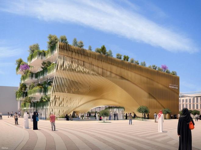 Nhà triển lãm như vườn cây khổng lồ xanh mướt của Bỉ tại Triển lãm thế giới World Expo tại Dubai - 2