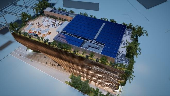 Nhà triển lãm như vườn cây khổng lồ xanh mướt của Bỉ tại Triển lãm thế giới World Expo tại Dubai - 3