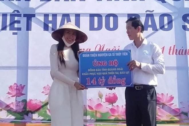 Quảng Ngãi lên tiếng xác nhận ca sĩ Thủy Tiên hỗ trợ người dân 14 tỷ đồng   Báo Dân trí