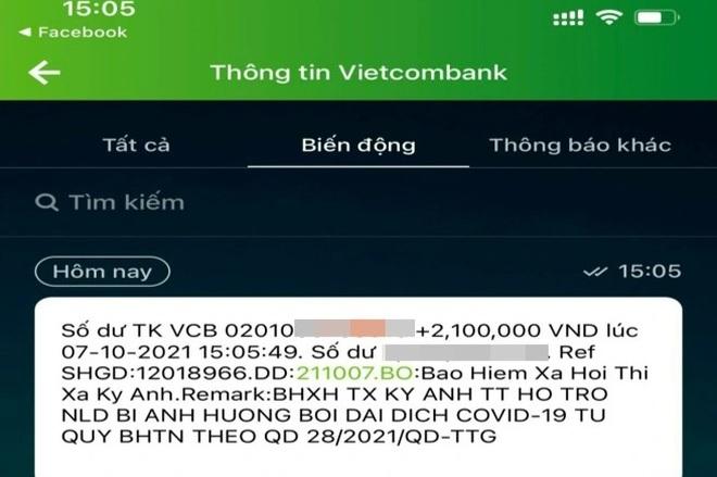 Người lao động ở Hà Tĩnh đã bắt đầu nhận hỗ trợ từ gói 38.000 tỷ đồng - 2