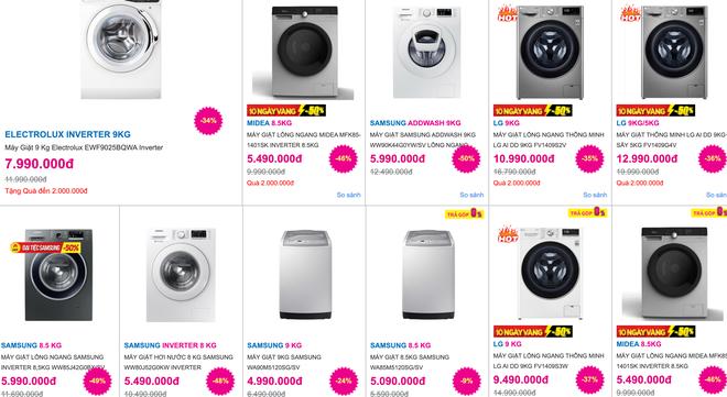 Máy giặt giảm 1/2 giá khuấy động thị trường điện máy cuối năm - 2