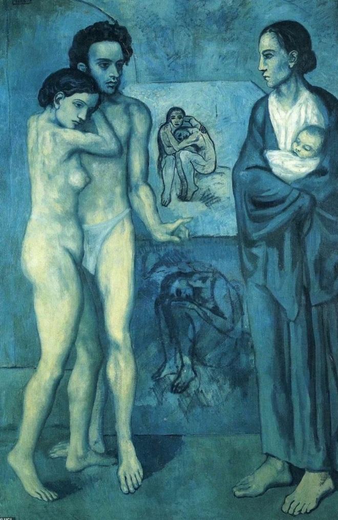 Cô gái khỏa thân thu mình trong cô đơn của Picasso vừa lộ diện - 4