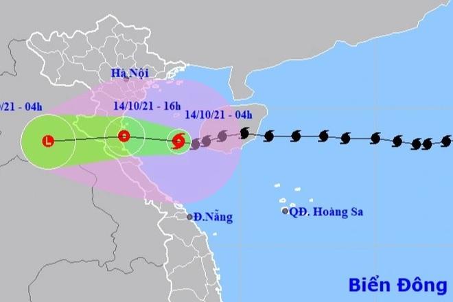 Bão số 8 đang hướng vào Thanh Hóa - Hà Tĩnh - 1