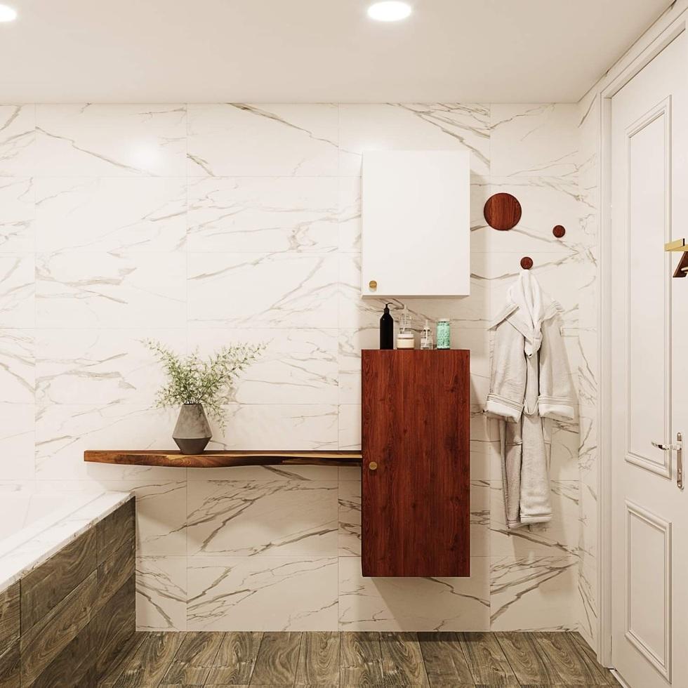 Biến căn hộ 120 m2 siêu cũ thành nơi nghỉ dưỡng sang chảnh lúc giãn cách - 6