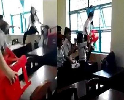 Ảnh Clip nữ sinh bị đánh hội đồng ở Trà Vinh đang gây bức xúc dư luận