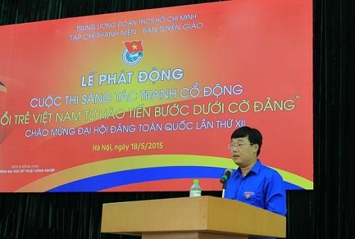 Phát động cuộc thi sáng tác tranh cổ động Tuổi trẻ Việt Nam tự hào tiến bước dưới cờ Đảng