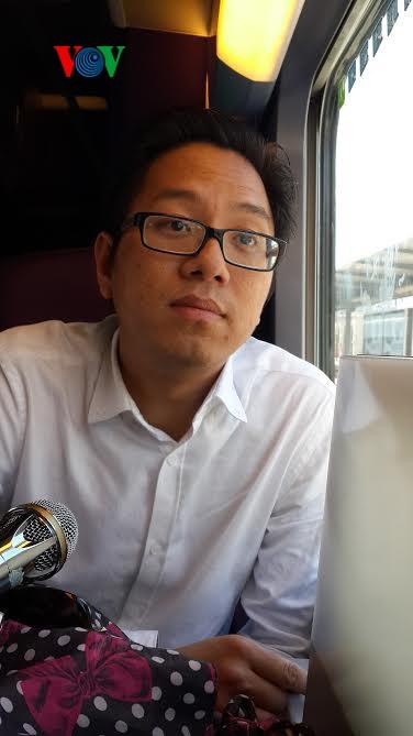 Cựu du học sinh Việt Nam Trần Trung Quân hiện đang làm việc tại một công ty Pháp