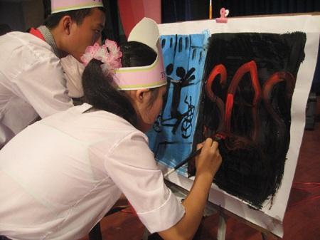 Nghệ An: Chung kết hội thi Tìm hiểu ATGT cấp THCS  - 2