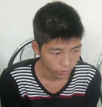 Đối tượng Nguyễn Văn Tuấn tại cơ quan công an