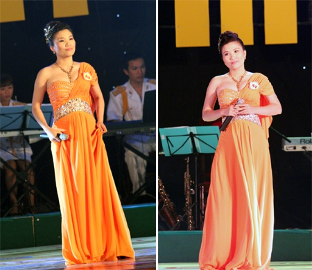 Thí sinh mang SBD 84 - Trần Thị Trang thể hiện hai ca khúc: