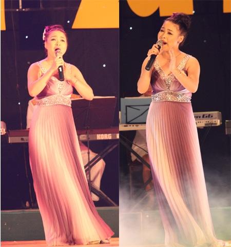 Thí sinh mang SBD 104 -Đinh Thị Trang thể hiện hai ca khúc: