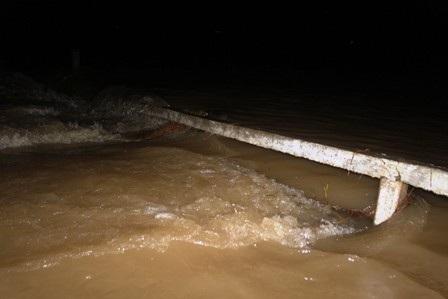 Đập tràn nơi xảy ra sự việc em Phúc bị nước cuốn trôi và tử vong