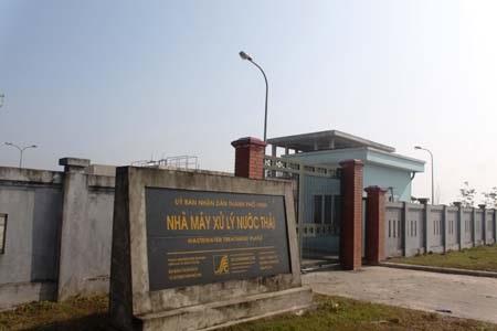 Nhà máy xử lý nước thải TP Vinh