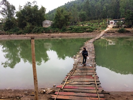 Khúc sông - nơi Khánh cứu sống nữ sinh