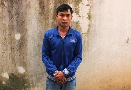 Bị can Nguyễn Doãn Bắc tại cơ quan công công an huyện Đô Lương