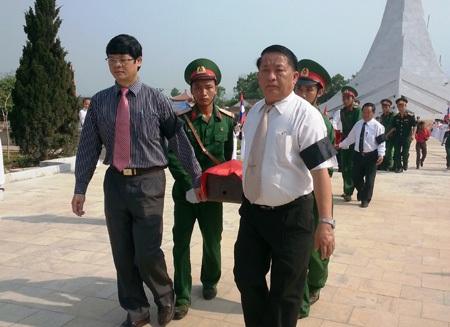 An táng 31 hài cốt liệt sĩ quân tình nguyện hy sinh tại Lào
