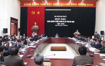 Bắc Ninh công bố sự kiện kỷ niệm 15 năm tái lập tỉnh