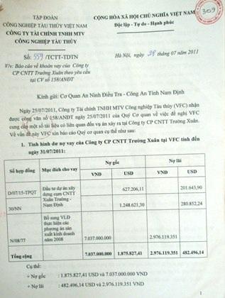 Ông Hoàng Văn Tuyển - Giám đốc Công ty CP CNTT Trường Xuân gửi đơn kêu cứu đến báo điện tử