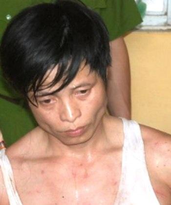 Trùm ma túy Lê Quang Đông khi bị bắt.