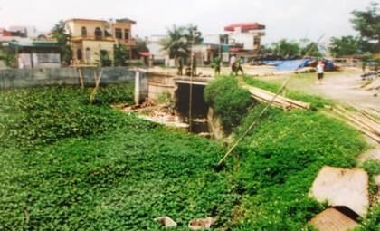 Khu vực cống nước phát hiện thi thể bà Nguyễn Thị Mai bị phi tang.