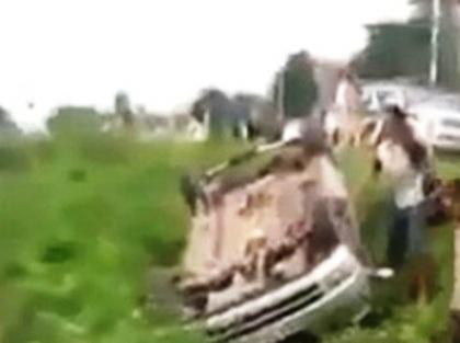 Chiếc xe điên gây tai nạn kinh hoàng.