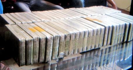 Tang vật ma túy bị CSGT tỉnh Bắc Giang bắt giữ.