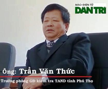 Lãnh đạo TAND tỉnh Phú Thọ đã khẳng định