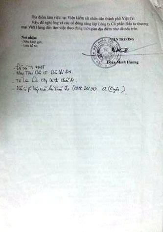 VKSND tỉnh Phú Thọ thiết kế buổi làm việc giữa nhiều bên liên quan để giải quyết sự việc.