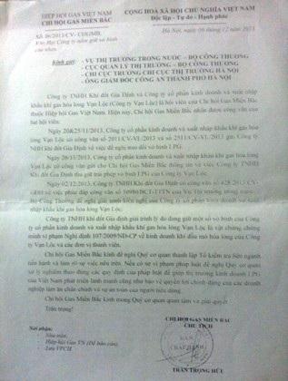 Chi hội gas miền Bắc kiến nghị điều tra vụ tranh chấp giữa Vạn Lộc gas và Gia Định gas.