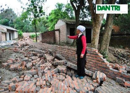 Ngôi nhà của bà Nguyễn Thị Khuyết là một trong số những