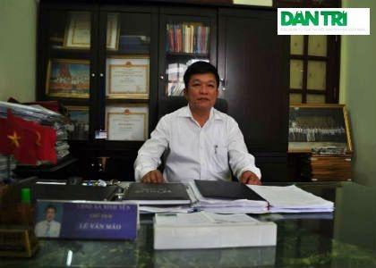 Ông Lê Văn Mão - Chủ tịch UBND xã Bình Yên thanh minh cưỡng chế do cấp trên thúc ép.