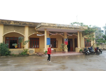 Nhà văn hóa của thôn Nội Xá lại được trưng dụng thành nhà trẻ.
