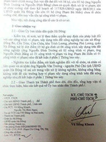 Quản lý đất đai để sai phạm tràn lan, nguyên PCT quận Hà Đông bị đề nghị kỷ luật.
