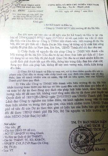 UBND TP Hà Nội chỉ đạo làm rõ trách nhiệm trong sai phạm tại Urenco.