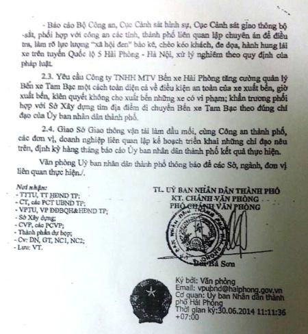 TP Hải Phòng giao Công an khẩn trương điều tra xã hội đen bảo kê trên Quốc lộ 5.