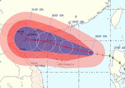 Bão Nock- Ten hướng đến Vịnh Bắc Bộ, miền Bắc sẽ mưa to - 1