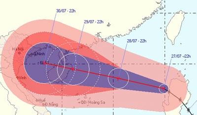 """""""Siêu"""" bão giật cấp 14 tiến vào biển Đông - 1"""