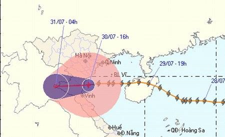 Bão số 3 suy yếu thành áp thấp nhiệt đới - 1