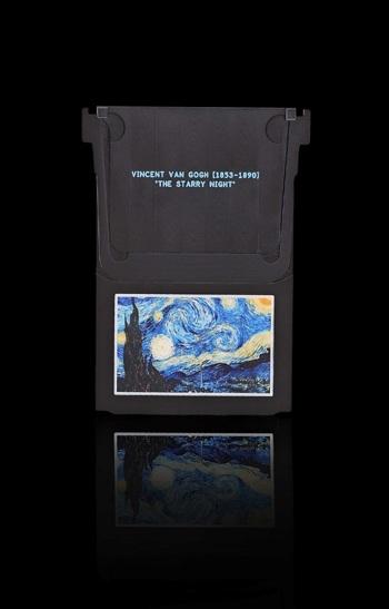 """Bức họa """"The Starry Night"""" được vẽ lại bằng tay ở bên dưới lớp sapphire."""
