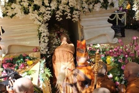Kim quan Đại lão Hòa thượng Thích Trí Tịnh đã được nhập bảo tháp Phù Thi.