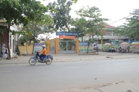 Trường tiểu học Phước Thạnh (quận 9), nơi liên tiếp xảy ra các vụ bắt cóc học sinh để lấy vàng.