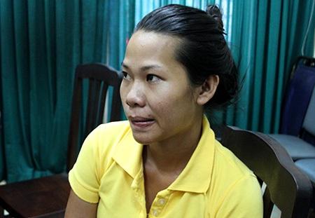 Đối tượng Nguyễn Thị Thu Trâm bị Công an quận 10 bắt giữ.