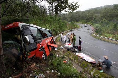 Hiện trường vụ tai nạn (ảnh Người lao động)