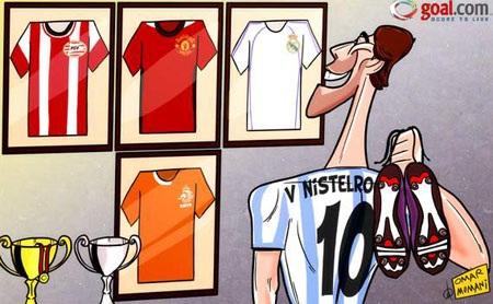 Biếm họa: Van Nistelrooy giã từ sự nghiệp thi đấu
